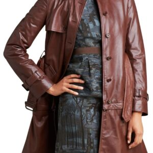 brown women long coat