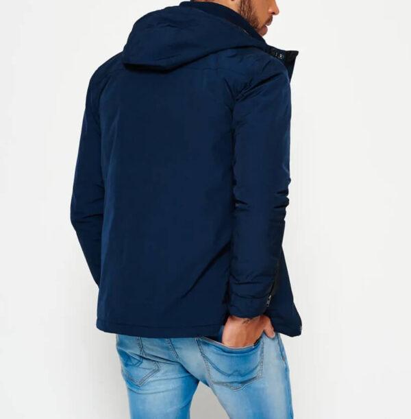 Dark Blue Two Way Zipper Vessel Jacket