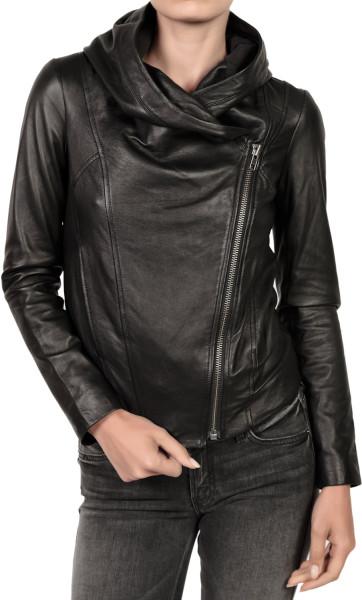 Women S Hooded Leather Jacket Jackets Maker