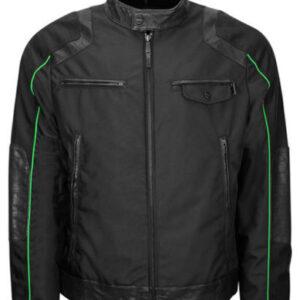 Black Bomber Jacket Water Resistant