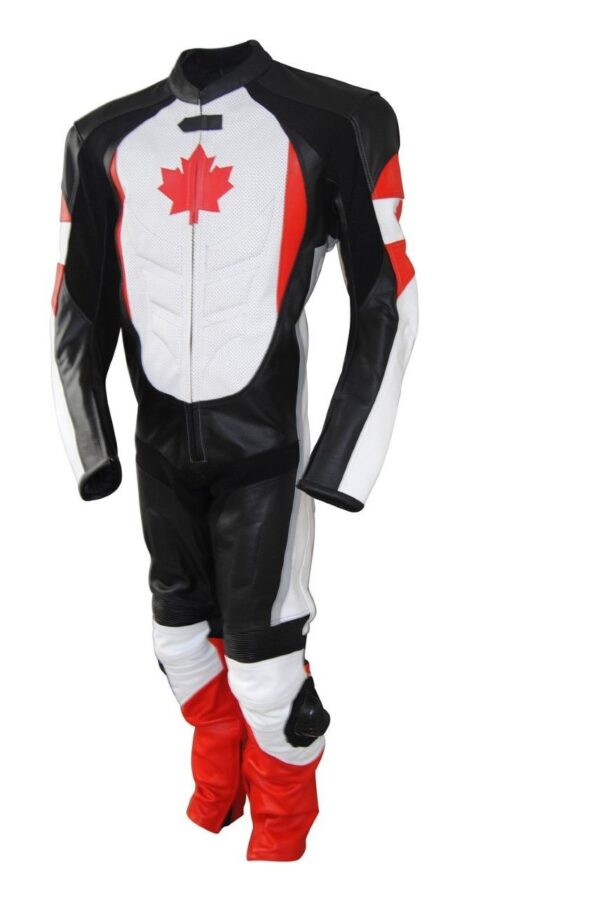 Canadian Flag CE Protected Armour Motorcycle Suit