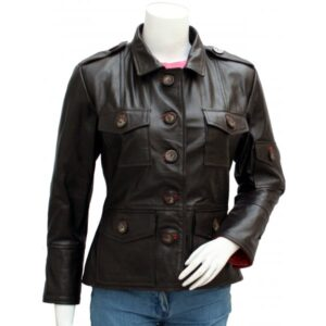 Women's Black Biker Leather Jacket