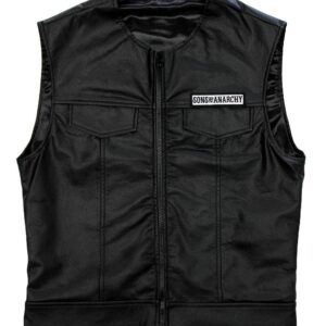 Sons of Anarchy Black Leather Vest