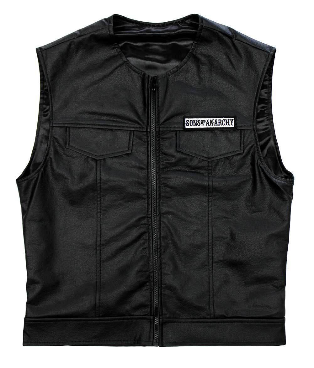 787bd202b Sons of Anarchy Leather Vest SOA - Jackets Maker