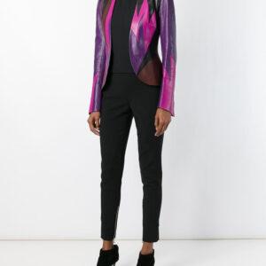 Vintage Flame Leather Jacket Full Side Look