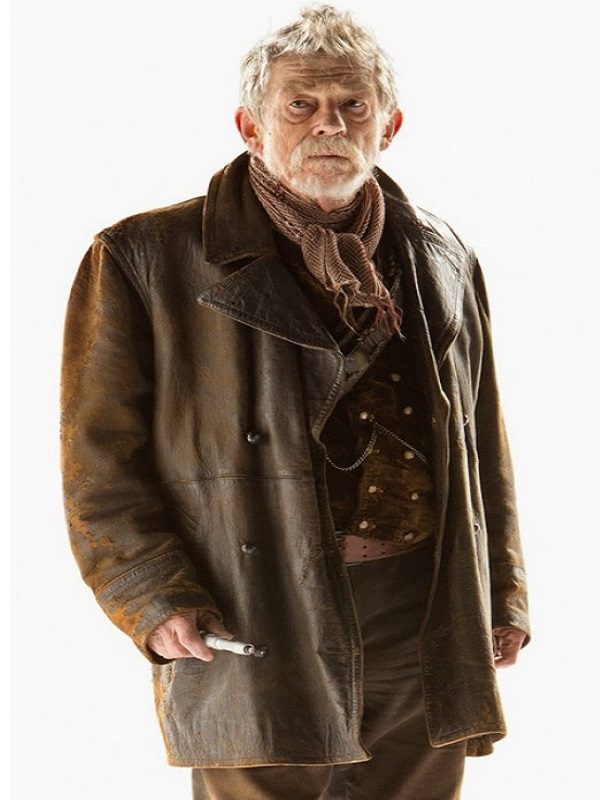 John Hurt Doctor Who The Doctor Leather Coat