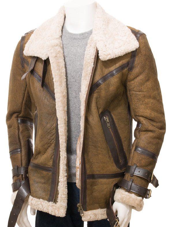 Men Sheepskin Shearling Jacket Jackets Maker