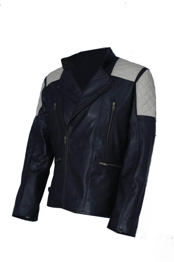 Men's Vintage Leather Jacket For BikersMen's Vintage Leather Jacket For Bikers