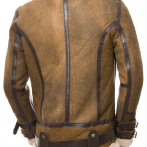Men's Brown Shearling Leather Jacket