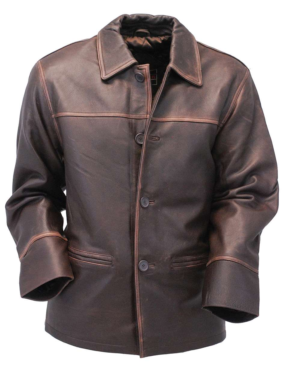 Leather Parka Mens