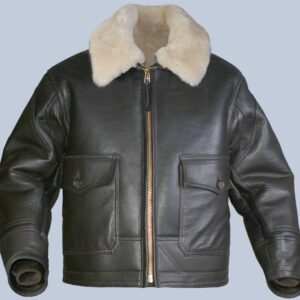 Black ANJ-4 Sheepskin Leather Jacket