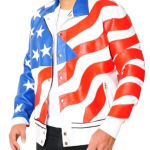 Vanilla Ice American Flag Jacket