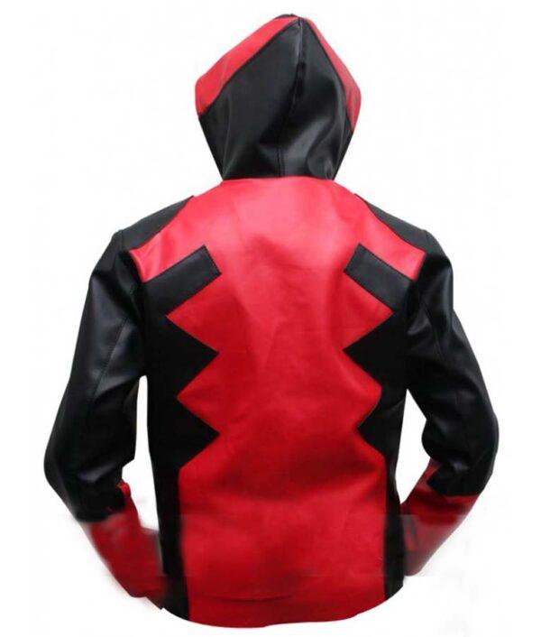 Deadpool Leather Hoodie Jacket
