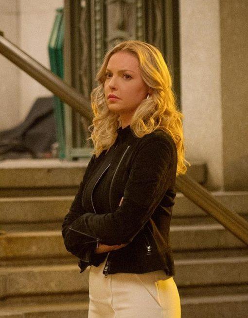 Doubt Katherine Heigl Black Leather Jacket