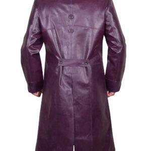 Purple Joker Injustice 2 Leather Coat