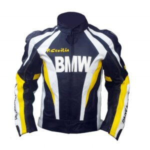 Very Classic BMW Multi Color Biker Racing Leather Jacket