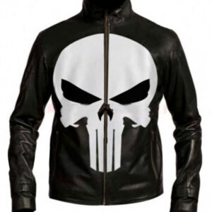 Black Skull Death's Head Leather Jacket