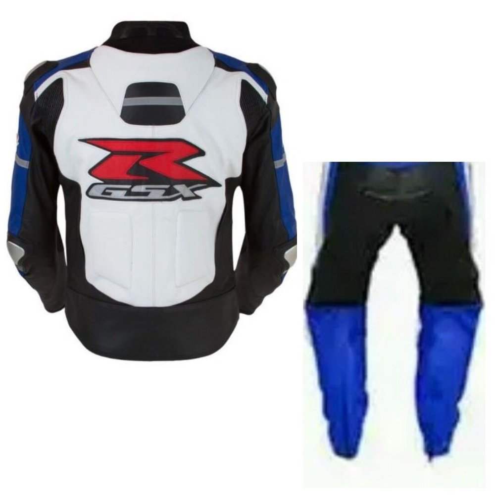 Suzuki GSXR Motorcycle Suits Leather Men Motorbike Jacket Trouser Armor Protect