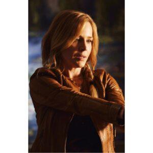 Defiance Amanda Rosewater Brown Leather Jacket