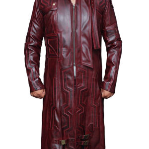 Guardians of the Galaxy 2 Star Lord Trench Leather Coat