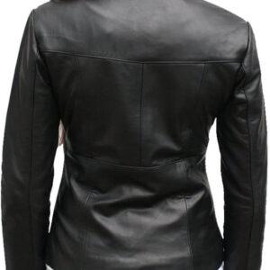 Black Full Sleeved Leather Jacket
