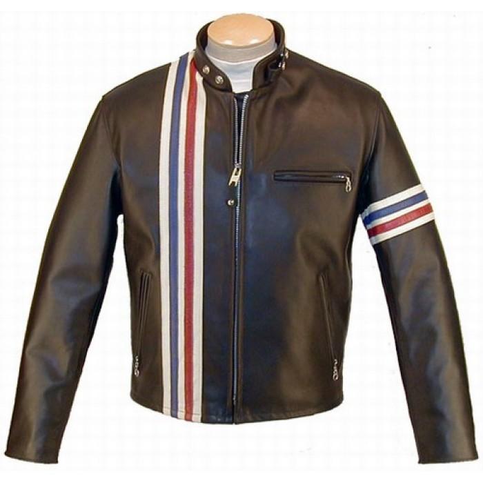 Easy Rider Peter Fonda USA Flag Biker Leather Jacket