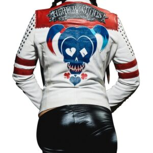 Harley Quinn Daddy's Lil Monster Leather Jacket