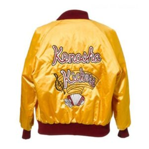 Home Alone Gus Polinski Kenosha Kickers Yellow Satin Jacket