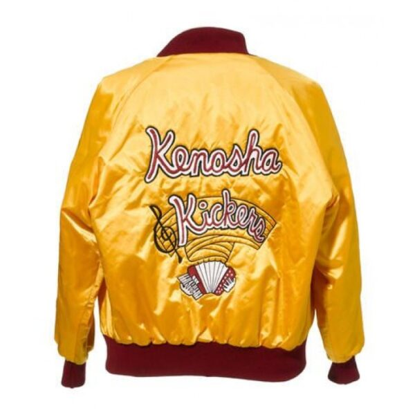 Home Alone Gus Polinski Kenosha Kickers Yellow Satin Jacket