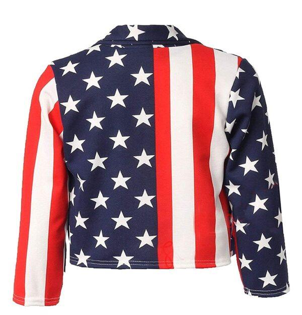 American Flag Fashion Leather Jacket