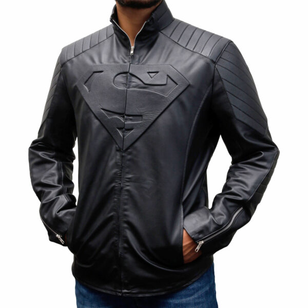 Superman Black Smallville Leather Jacket
