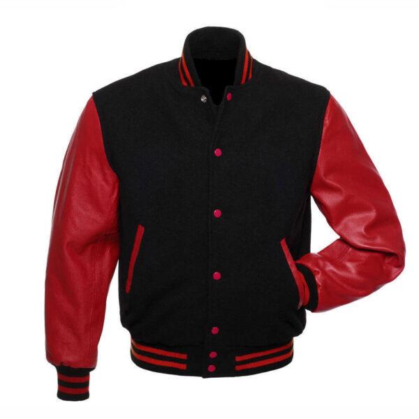 Varsity Red And Black Letterman Jacket