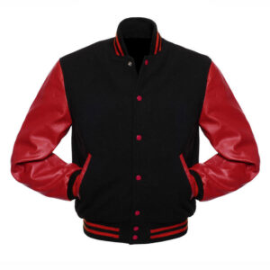 Varsity Red And Black Letterman Jacket