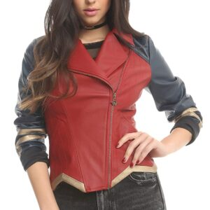 Marvel Wonder Woman Cosplay Leather Jacket