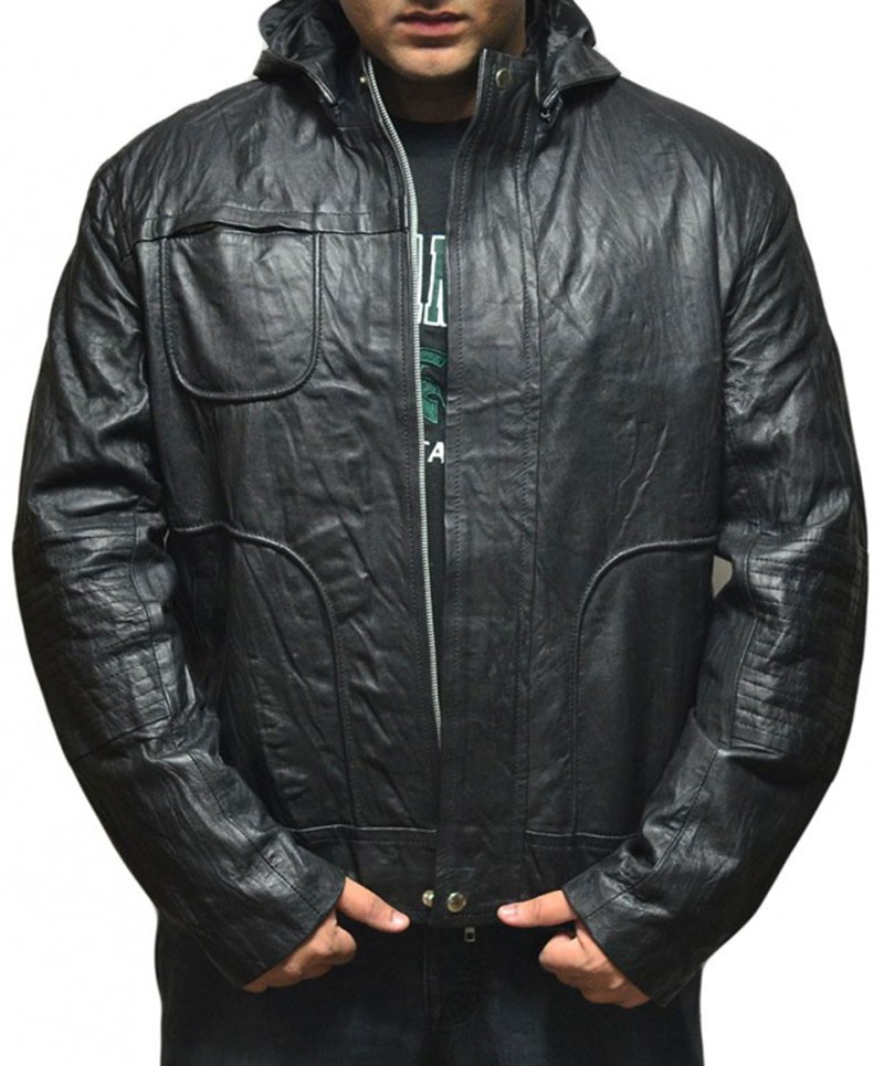 Tom Cruise Mission Impossible Ghost Protocol Black Motorcycle Leather Jacket