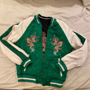 Topshop Dragon Embroidered Bomber Jacket