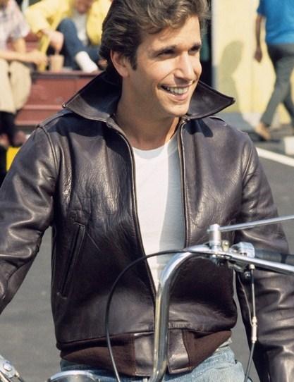 Happy Days Fonzie Henry Winkler Leather Jacket