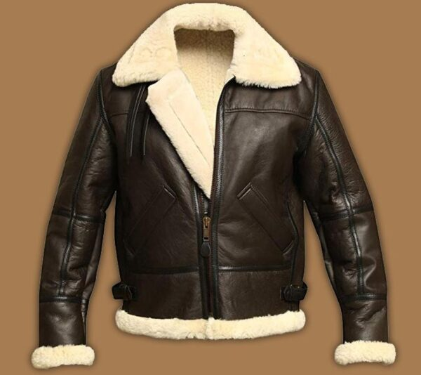 B3 Bomber Aviator Shearling Sheepskin Leather Jacket