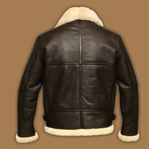 B3 Bomber Aviator Shearling Sheepskin Leather Jacket