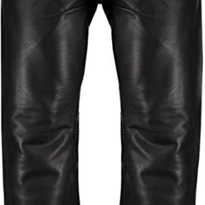 Men's Leather Black Biker Pant