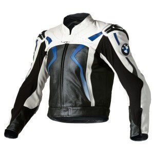 BMW Black And Blue Racing Motorcycle Leather Jacket