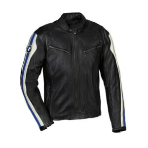BMW Blue Stripe Man Motorbike Leather Jacket