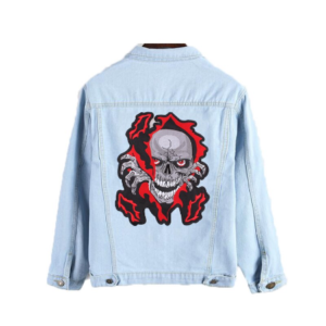 ZOTOONE Big Skull Patch Jacket Iron on Transfer Punk Patches for Clothes Applique Embroidery Rock Cloth Patch Biker