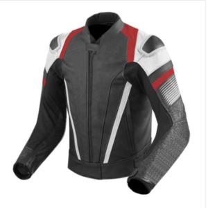 Black Style Motorcycle Racing Leather Riding Jacket
