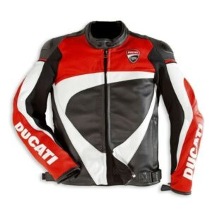 Ducati Motorcycle Leather Jacket CE Approved Full Protection Male Female