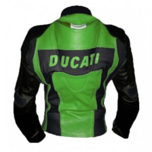Ducati Corse Black Green Leather Suit