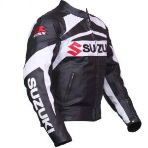 GSXR Suzuki Motorcycle Leather Jacket