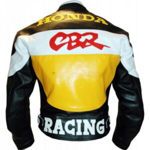 HONDA-CBR-BLACK-YELLOW-COWHIDE-RACING-MOTORCYCLE-LEATHER-JACKET-WITH-SAFETY-PADS