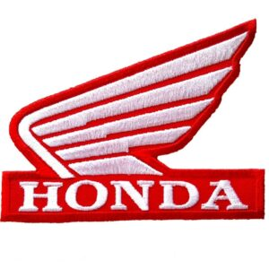 HONDA Patch Wing Red Iron/Sew On Motorcycle Biker Racing Embroidered