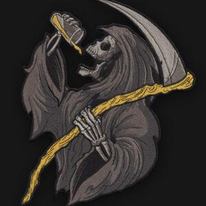 """Huge 9"""" Drinkin' Reaper Back Patch"""